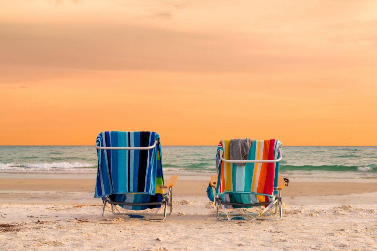 chairs on siesta Key beach
