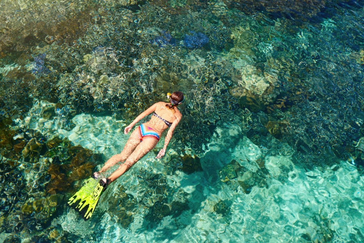 image of woman snorkeling